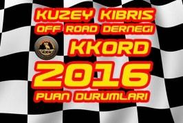 KKTC 2016 Off Road Şampiyonası Puan Durumları