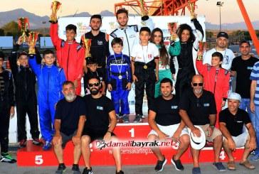 Kartingde üç kategoride birinciler belirlendi
